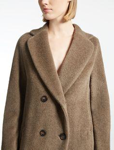 Max Mara FABIAN kaki: Alpaca and wool coat.
