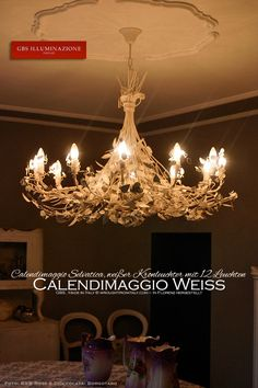 Lampadari, lampade, applique, lanterne in ferro battuto. GBS Tole Floral Lamps, hand-made in Florence since Made in Tuscany Hand Decorated, Light, White Chandelier, Hand Painted, Wrought Iron Chandeliers, Lights, White Patina, Chandelier, Ceiling Lights