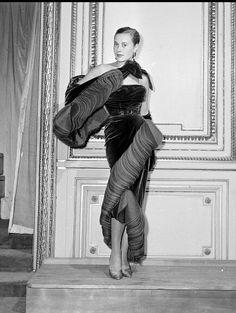 1950 - Christian Dior Velvet Evening Gown,