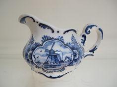 Melkkannetje, Delfts blauw, handgeschilderd