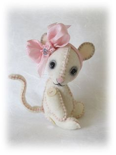 PDF e Pattern to Make 5 Wool Felt Mouse LaLa by Booh por Boohbears