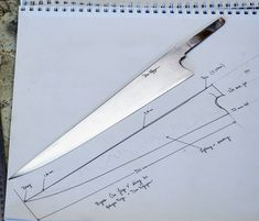 Knife Template, Knife Art, Sticks And Stones, Handmade Knives, Fixed Blade Knife, Chef Knife, Knife Making, Metalworking, Kitchen Knives