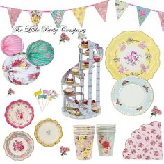 Truly Scrumptious Vintage Party Supplies Afternoon Tea Wedding Girls Tea Party