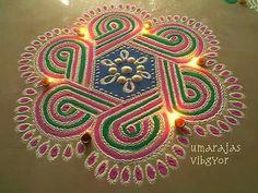 Rangoli Designs Flower, Small Rangoli Design, Colorful Rangoli Designs, Rangoli Ideas, Rangoli Designs Diwali, Kolam Rangoli, Flower Rangoli, Beautiful Rangoli Designs, Rangoli Colours
