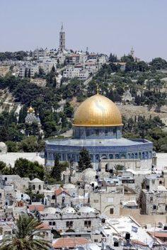 Montagna del tempio di Gerusalemme - cupola della roccia