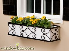 The Garden Gate Window Box Cage (Idea to turn upside down as cover for vanity lights in bathroom- OR- make a cover for bathroom vanity lights similar to this window box look)