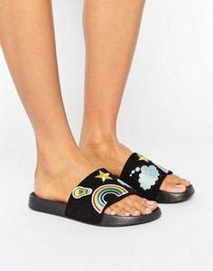 RAID Patch Slide Flat Sandals