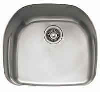 PRX11021 Prestige Series Undermount Single Bowl Sink with Integral Shelf in Stainless Steel
