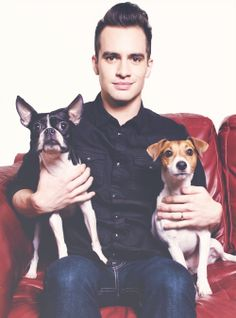 Brendon Urie + dogs