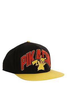 db8888661cd Pokemon Pikachu Snapback Ball Cap