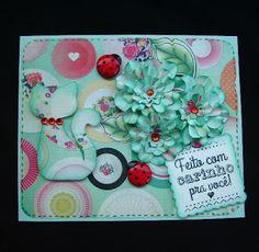 flores feitas - Cartão para Pri