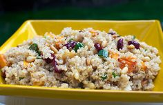 Sweet and Crunchy Quinoa Salad, kosher for Passover!  #quinoa #salad