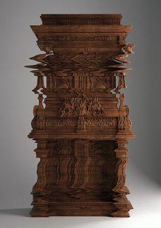 Mind-Boggling Cabinet Designed to Look Like a Digital Glitch - My Modern Metropolis
