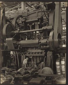 Charles Sheeler, American, 1883-1965; Ford Plant, River Rouge, Criss-Crossed Conveyors, 1927; gelatin silver print. Courtesy of the Museum of Fine Arts, Boston, The Lane Collection.