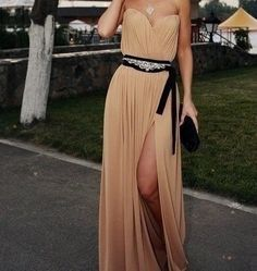 Long dress, don't care  Could use this sash idea on a different more plain one