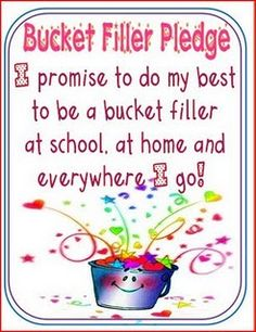 Bucket Filler Pledge created by Mel D from seusstastic.blogspot.com