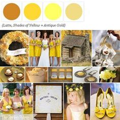 Latte, Shades of Yellow + Antique Gold