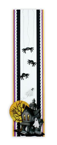 Classic Halloween Stickers Scrapbook Border Idea