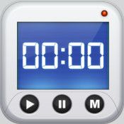 Timer+ ★★★ $0.00 A basic timer app let's you preset and even run multiple timers at once.  There are a few fun sounds to choose from and it has good, easy to use functionality with simple graphics.  There is an add banner at the bottom of the running times.