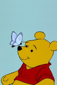 """Winnie the pooh ° o ° """"adults are only grown up kids anyway"""" - wa Whinnie The Pooh Drawings, Winnie The Pooh Cartoon, Dope Cartoon Art, Dope Cartoons, Small Canvas Art, Mini Canvas Art, Winnie The Pooh Background, Canvas Painting Designs, Sketch Tattoo Design"""