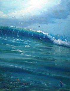"""SECOND WAVE  16x20 oil on canvas"" - Original Fine Art for Sale - © Barry Howard"