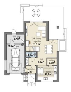 Elsa Elsa, Floor Plans, House Design, How To Plan, Rustic Homes, Country Houses, Modern, House, Architecture Illustrations