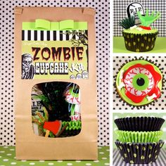 Zombie Cupcake Kit. I know a few friends who would like recieving this in the mail.