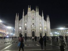 Piazza Duomo Milano, at night