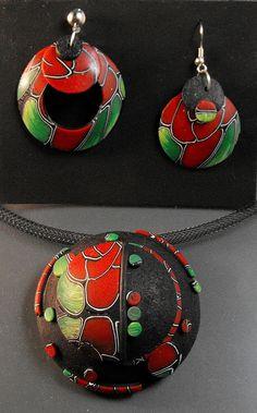 Red Roses Jewelry Set by MargitB., via Flickr