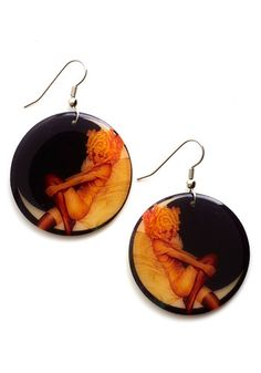 Striking a Pose Earrings. Amp up your illuminating style by slipping in these vintage-inspired earrings! #black #modcloth