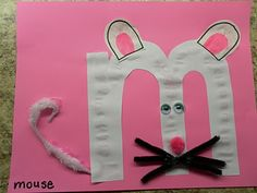 Alphabet Craft Book m for mouse *****Plus other ideas for practicing any letter