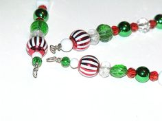Red White and Green Icicle Ornaments with an by CJKingOriginals, $10.00