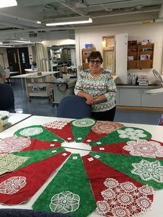 doily tree skirts, #doilies, #treeskirt. Or could use crocheted snowflakes.