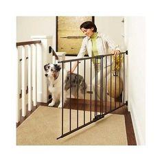 Baby Safety Gates Extra Wide Tall Pet Child Walk Through Metal Swinging Gate