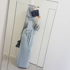 Greys for days ♥ @hijab_house Knitted Maxi Dress