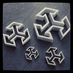 Tile molds printed by Shapeways