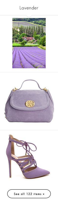 """Lavender"" by leptismagna ❤ liked on Polyvore featuring bags, handbags, shoulder bags, lavender, lavender purse, purple suede handbag, suede handbags, purple shoulder bag, emma fox purses and shoes"