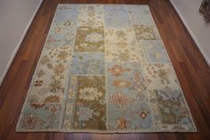 151 On Sale* New Anatolian Turkish Rug OUSHAK 6.4×9.4**194×286 ushak
