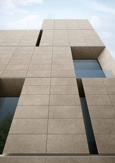 is a and that offers varieties of colour and strata, with impressions of shells, veins and mineral nuances which are reproduced in a high definition, thickened porcelain that is unprecedented in terms of realism to natural limestone options Stone Cladding Exterior, House Cladding, Stone Facade, Wall Cladding, Facade House, Arch Building, Building Facade, House Front Design, Facade Design