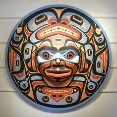 John Livingston Art and Artwork For Sale by Pegasus Gallery of Canadian Art ~ Salt Spring Art Galleries Arte Inuit, Arte Haida, Haida Art, Inuit Art, Native American Masks, American Indian Art, Arte Tribal, Tribal Art, Tatouage Haida