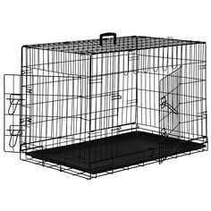 Pet Dog Cage Crate Kennel Playpen 2 Door Wire Metal Folding ** Quickly View  This