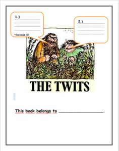 This 40 page Twits Workbook is a great accompaniment to pair with Roald Dahl's book The Twits and is great for students to use as a guide to help with comprehension and to use their creative ideas to bring the book alive for themselves! Different Parts Of Speech, Roald Dahl Books, The Twits, Cause And Effect, Comprehension, Exercises, Novels, This Book, Students