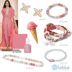 Beblue Jewelry offers handmade high-end sterling silver, mother-of-pearl, leather and gold jewelry. All Beblue's jewelry is made in Canada. Pantone 2015, Or, Gold Candy, Strawberry, Fashion 2015, Jewellery, Sterling Silver, Spring 2015, Pink