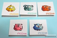 Paper Smooches gift cards by Kylie - Chubby Chums