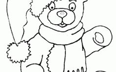 Amazing Christmas Teddy Bear Coloring Pages Ideas