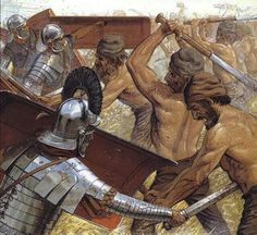 Another Battle Scene from The Roman Dacian Wars… Rome History, Ancient History, Military Art, Military History, Military Uniforms, Roman Armor, Roman Warriors, Roman Legion, Roman Soldiers