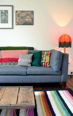 Zoe Darlington's house - colour and eclecticism