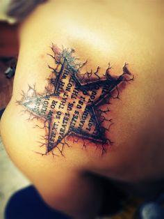Star tattoo  La libélula Tattoo