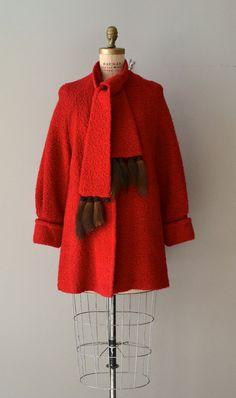 Cairne boucle swing coat red 50s swing coat by DearGolden