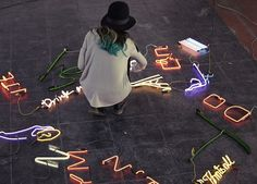 Neon Sign Installations by Olivia Steele – Inspiration Grid | Design Inspiration